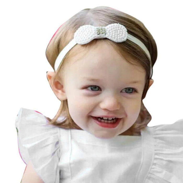 2-24Months Baby Girl Party Pearl Bowknot Headband - Jacaranda Events