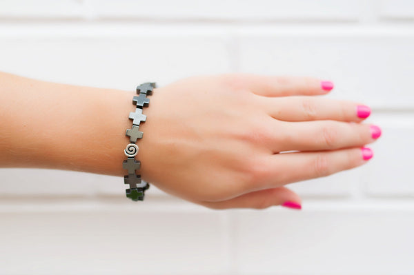 Black Hematite Stackable