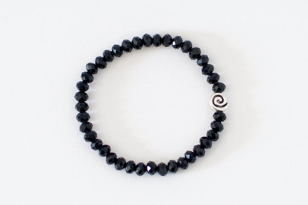 Black Glass Stackable