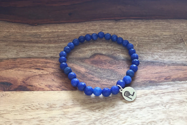 Blue Stone Charm Stackable
