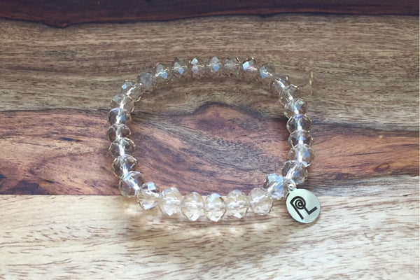 Champagne Crystal Charm Stackable