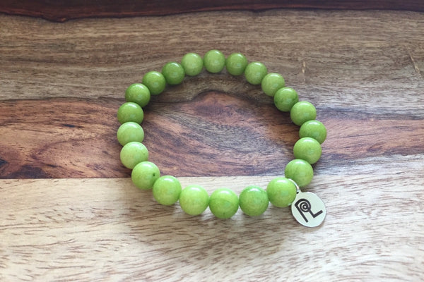 Green Stone Charm Stackable