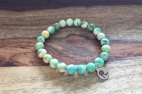 Marbled Mint Charm Stackable