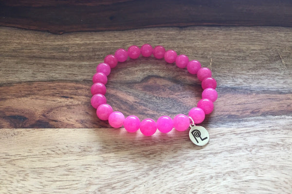 Pink Stone Charm Stackable