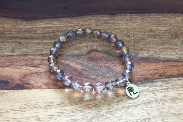 Purple Glass Charm Stackable