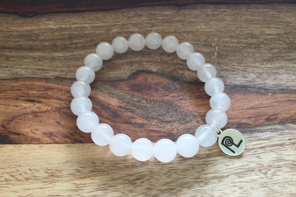 White Stone Charm Stackable