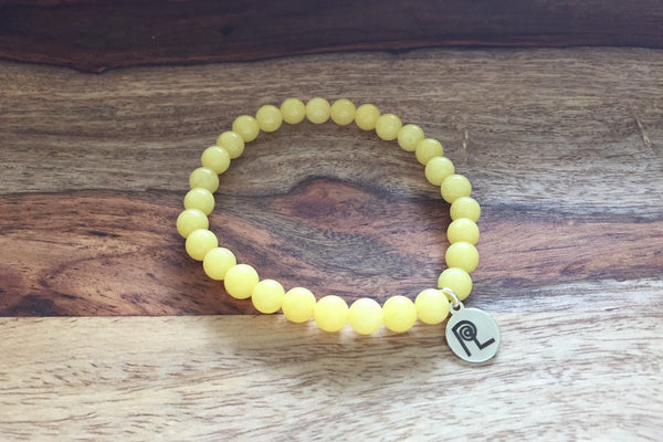 Yellow Stone Charm Stackable
