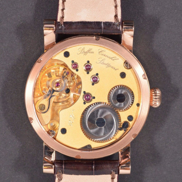 Cornehl Regulator 750/- Rose Gold Guillochiert 04