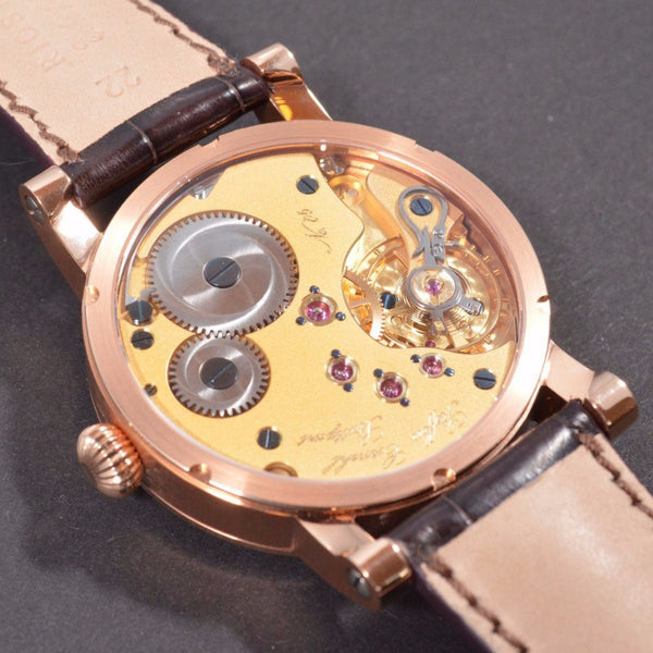 Cornehl Regulator 750/- Rose Gold Guillochiert 05