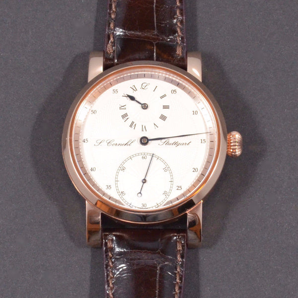 Cornehl Regulator 750/- Rose Gold Guillochiert 02