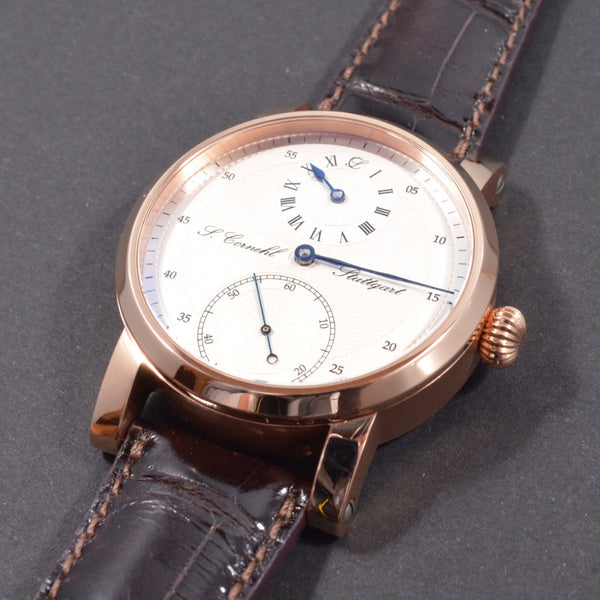 Cornehl Regulator 750/- Rose Gold Guillochiert 01