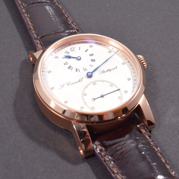 Cornehl Regulator 750/- Rose Gold Guillochiert 06
