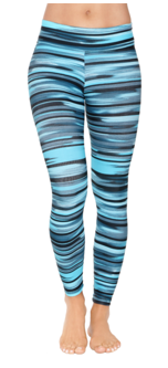 Spectrum Leggings (Green & Blue) - Miss Active