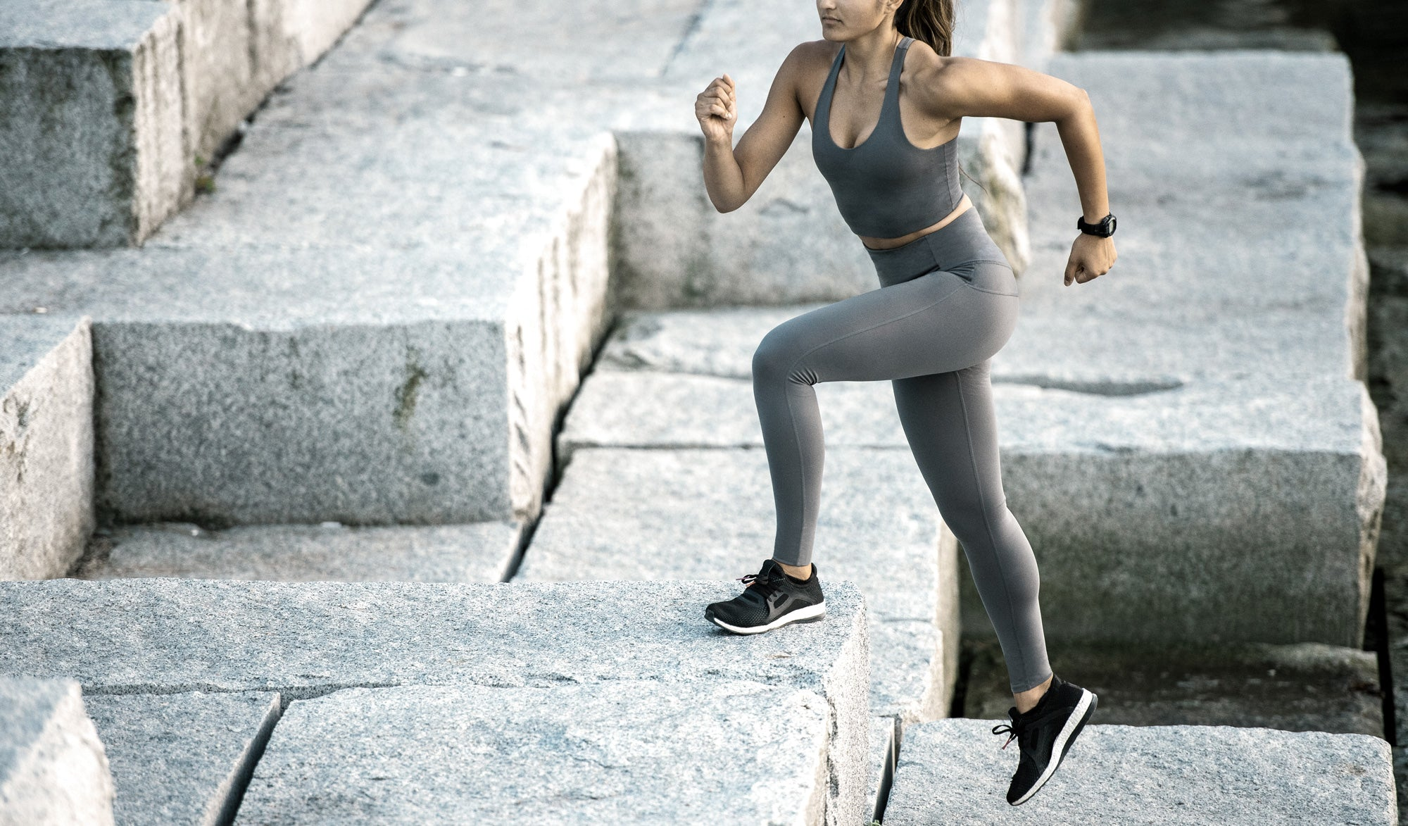 Women's High Rise workout & training tight - grey