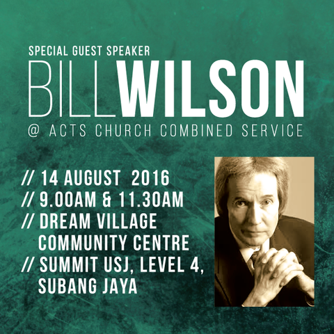 Combined Service: 14th August 2016 - Pr Bill Wilson