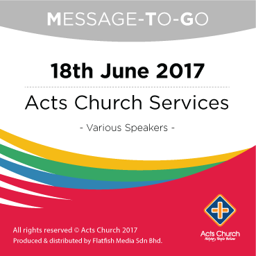 Weekly Message-To-Go: 18th June 2017