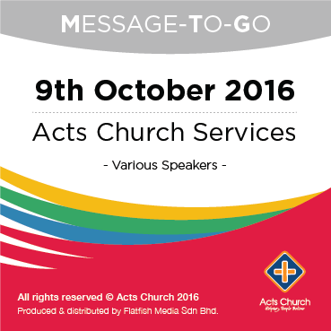 Weekly Message-To-Go: 9th October 2016