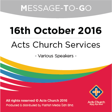 Weekly Message-To-Go: 16th October 2016
