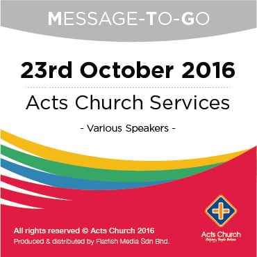 Weekly Message-To-Go: 23rd October 2016