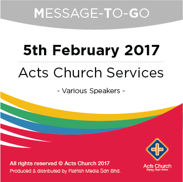 Weekly Message-To-Go: 5th February 2017