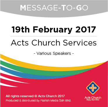 Weekly Message-To-Go: 19th February 2017