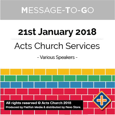 Weekly Message-To-Go: 21st January 2018
