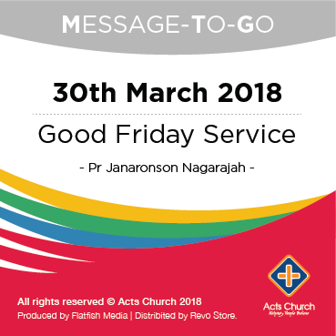 MTG: Good Friday Service - 30th March 2018