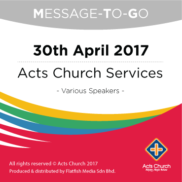 Weekly Message-To-Go: 30th April 2017