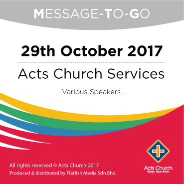 Weekly Message-To-Go: 29th October 2017
