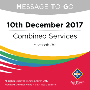 Weekly Message-To-Go: 10th December 2017