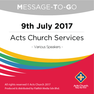 Weekly Message-To-Go: 9th July 2017