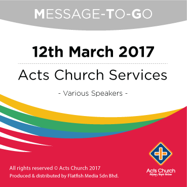 Weekly Message-To-Go: 12th March 2017