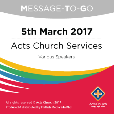 Weekly Message-To-Go: 5th March 2017