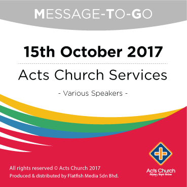 Weekly Message-To-Go: 15th October 2017