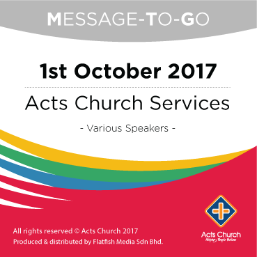 Weekly Message-To-Go: 1st October 2017