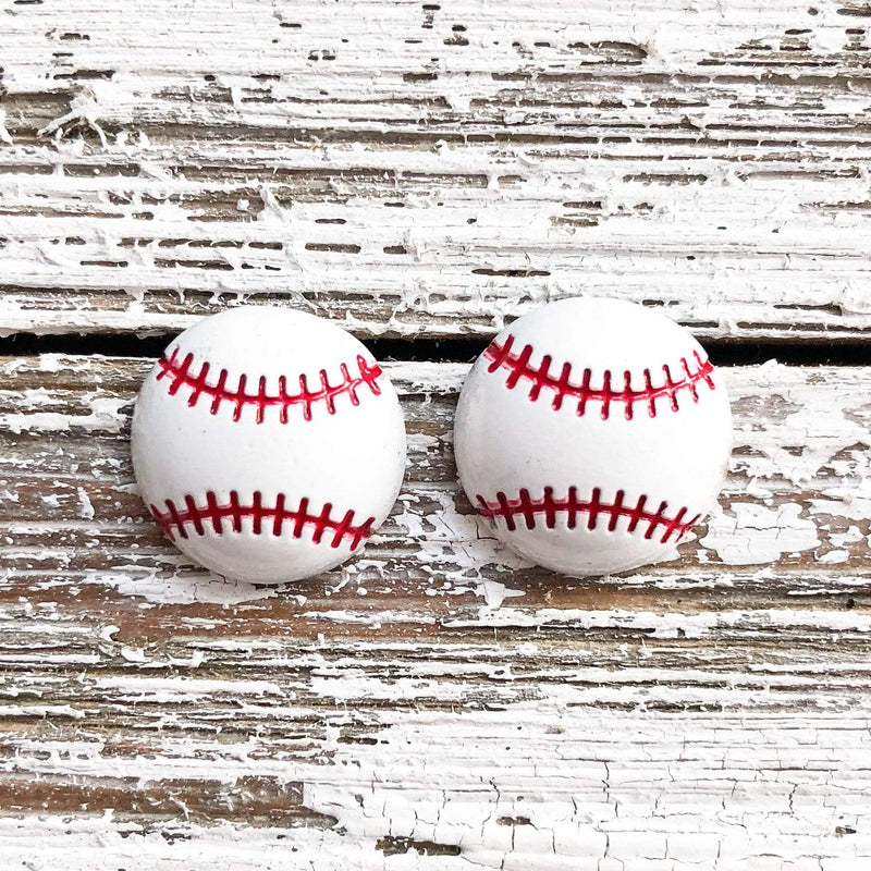 Envy Stylz Boutique Women - Accessories - Earrings Baseball Stud Earrings