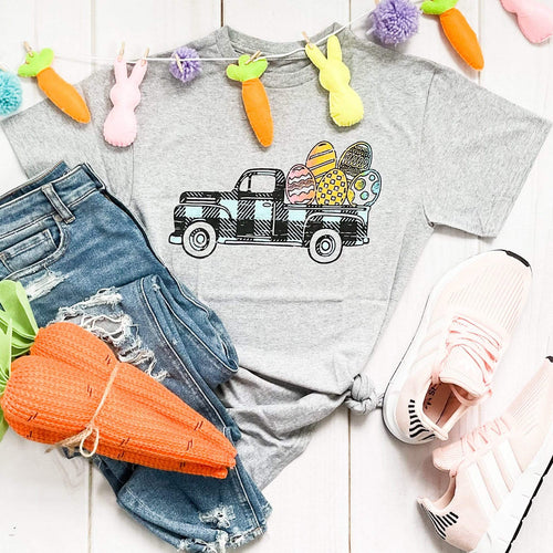 Envy Stylz Boutique Women - Apparel - Shirts - T-Shirts Easter Truck Graphic Tee