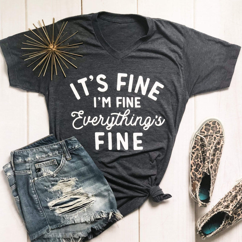 Envy Stylz Boutique Women - Apparel - Shirts - T-Shirts It's Fine, I'm Fine, Everything Is Fine Soft Graphic Tee
