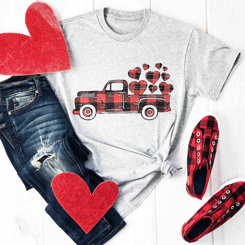 Envy Stylz Boutique Women - Apparel - Shirts - T-Shirts Valentine's Truck Graphic Tee
