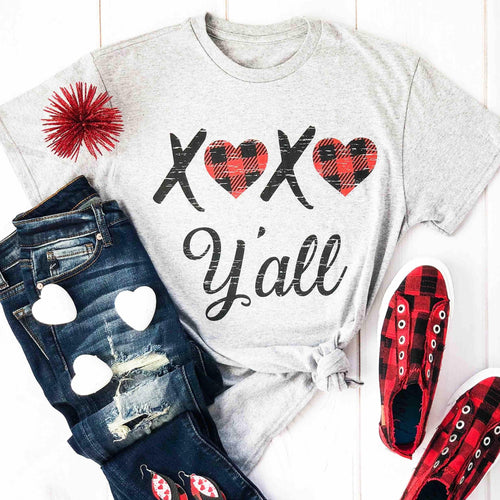 Envy Stylz Boutique Women - Apparel - Shirts - T-Shirts XOXO Y'all Graphic Tee