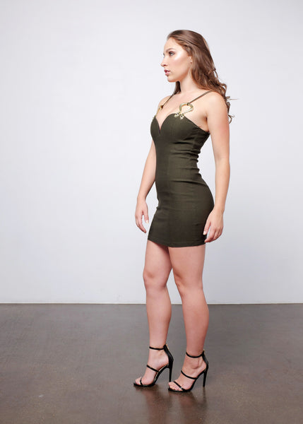 Snake Bodycon Dress 3