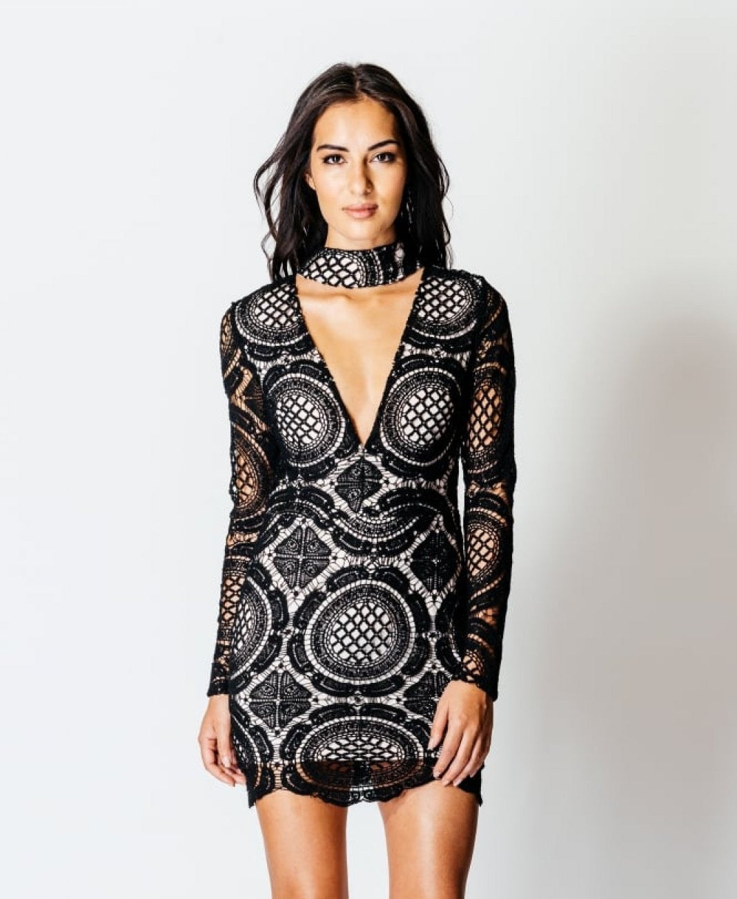 Lace Choker Mini Dress 4