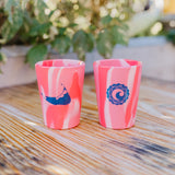 CISCO BREWERS NANTUCKET RED TYE DYE SILIPINT COCKTAIL CUP