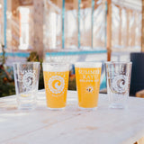 CISCO BREWERS SUMMER RAYS PINT GLASS- 4 PACK