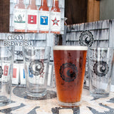 CISCO BREWERS CLASSIC PINT GLASS- 4 PACK