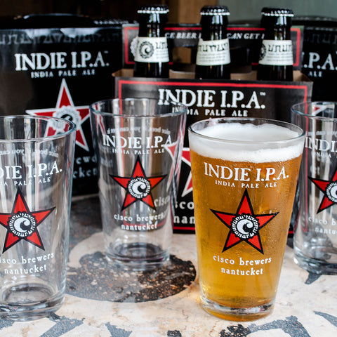 GREY LADY PINT GLASS- 4 PACK