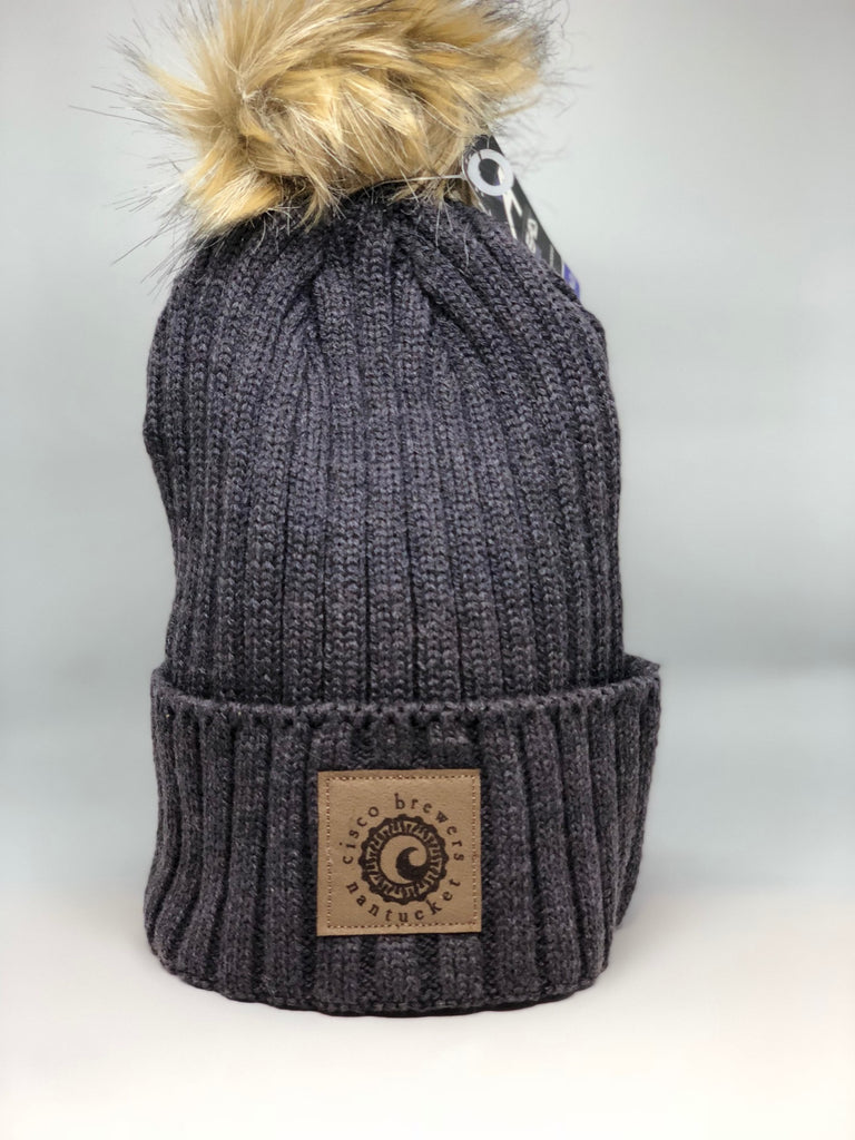 CISCO BREWERS LADIES KNIT BEANIE WITH POM (MULTIPLE COLORS)