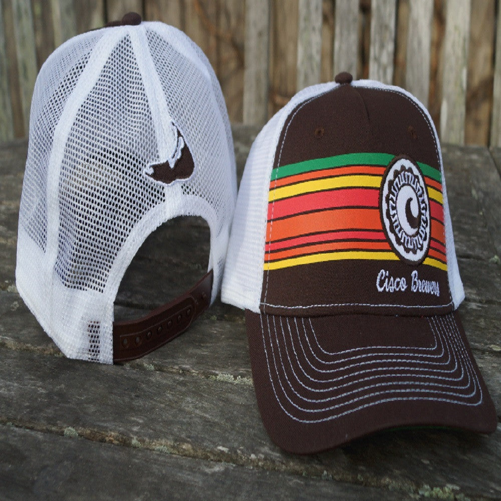CISCO BREWERS RETRO STRIPE MESH BACK HAT