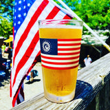 CISCO BREWERS USA FLAG PINT GLASS- 4 PACK