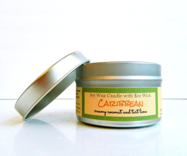 Caribbean Scented Soy Wax Candle